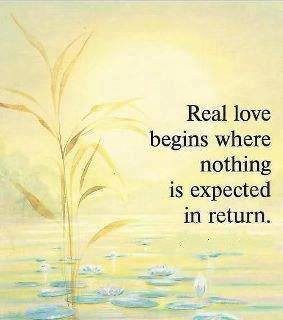 Real love begins