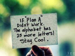 If Plan A didn\'t work